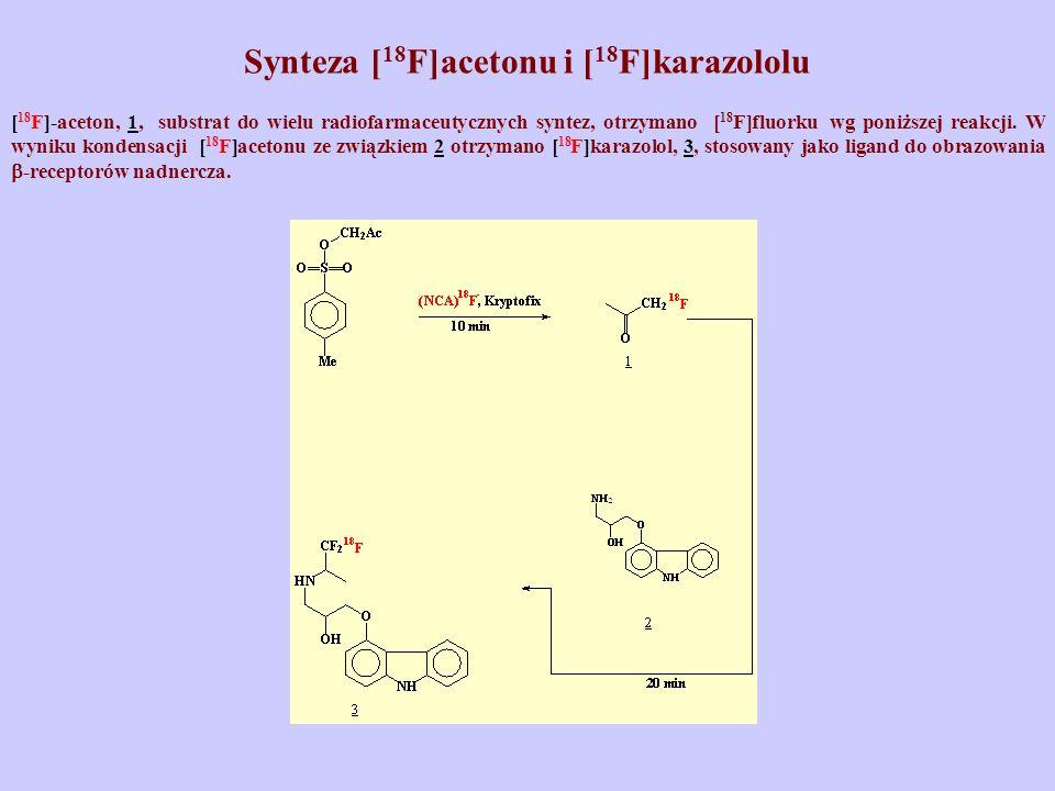 Synteza [18F]acetonu i [18F]karazololu